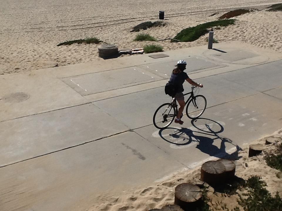 Biker along the Strand