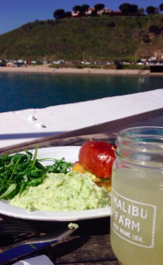 Delicious lunch on the Malibu Pier