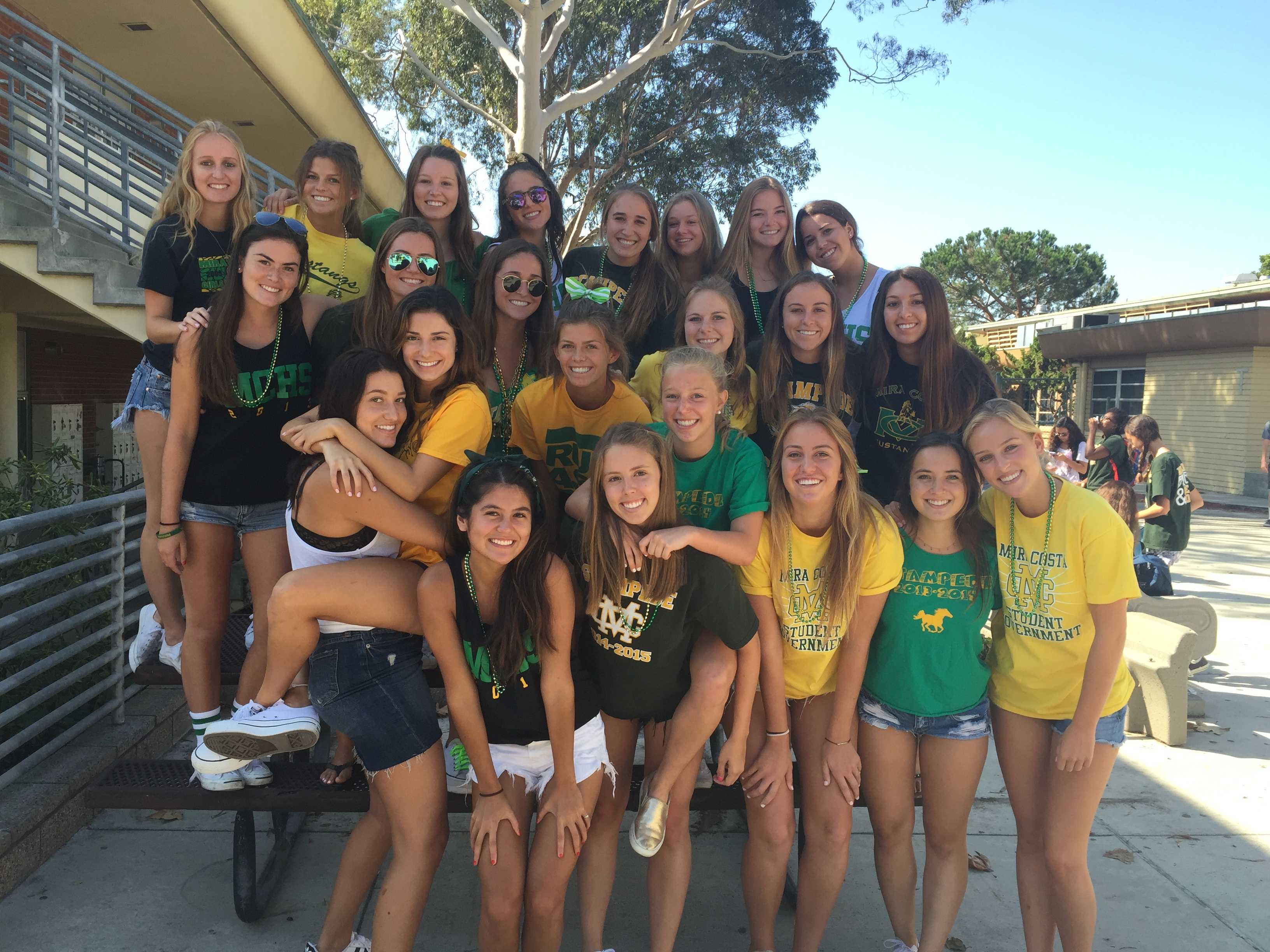 First green and gold Friday of the school year