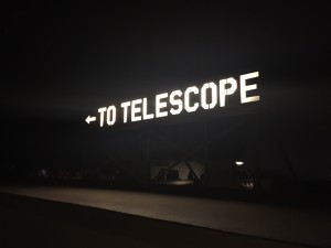 Sign for the Telescope