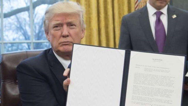 Trump opts out of the TPP. Photo courtesy of www.scmp.com