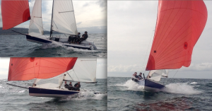 A few different angles of a 21ft Viper 640 sailing in Redondo Beach. Courtesy of Jake Sorosky.