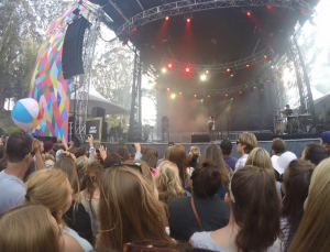 View from a few rows back in the crowd at the Milky Chance concert