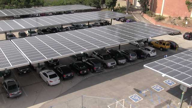 Solar+Panels+were+installed+on+campus+to+make+the+school+more+energy+efficient+